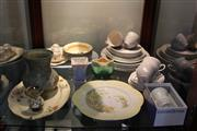 Sale 8151 - Lot 87 - Shelley Cabinet Plate with Other Ceramics incl. Wedgwood