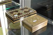 Sale 8269 - Lot 11 - Micromosaic Box with Another Inlaid Box