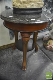 Sale 8323 - Lot 1005 - Circular Occasional Table with Rams Heads on Hoof Feet