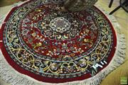 Sale 8328 - Lot 1046 - Round Small Persian Carpet In Red (97cm Diameter)