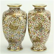 Sale 8393B - Lot 10 - Satsuma Pair of Vases