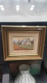 Sale 8433 - Lot 2020 - Framed Acrylic on Board Along a Track, Bathurst
