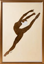 Sale 8414A - Lot 22 - Blumberg - Ballerina total frame size 110 x 76cm, in gilt frame