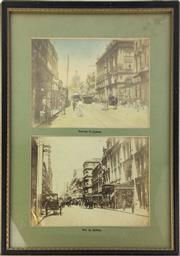 Sale 8793 - Lot 59 - Two c. 1880s Albumen Paper Photographs of George Street and Pitt Street, Sydney, each 13 x 61 cm