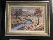 Sale 8990 - Lot 2054 - John Speedy Tranquil River, Tamworth oil on canvas board, 65 x 82cm (frame) signed