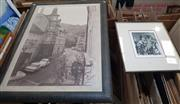 Sale 9019 - Lot 2081 - 2 Works: Vivien Iredale Mr Punchetching ed. 11/20 55 x 46cm (frame), together with a Poster of a European Street Scene