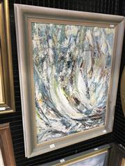 Sale 9033 - Lot 2033 - O Deklaus, Regatta 1992, oil on canvas board, 70 x 56cm (frame), signed and dated lower left
