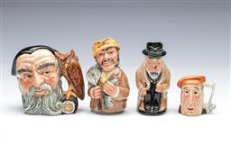 Sale 9098 - Lot 447 - Three Royal Doulton Character Jugs incl. Churchill & Another