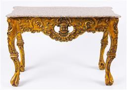 Sale 9135H - Lot 29 - A French painted console table. 81Cm Height, 50Cm Depth, 1.16M Width