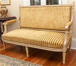 Sale 9190W - Lot 15 - A Fine French c19th Canopy with age painted finish. Height 103 x width 149 x depth 75cm