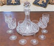 Sale 8341A - Lot 67 - A crystal ships decanter and 6 glasses by Atlantis
