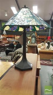 Sale 8404 - Lot 1088 - Lead Light Shade Table Lamp