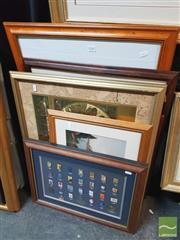 Sale 8449 - Lot 2040 - Sydney 2000 Olympics Memorabilia: Official Poster Pins 1896 - 2000, framed; plus a Group of Assorted Decorative Prints, and Decorati...