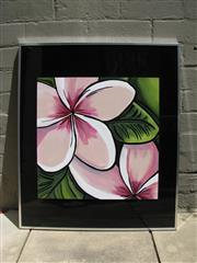 Sale 8451B - Lot 2 - Outdoor Painting for a Verandah - Frangipani by Nancee