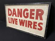 Sale 9092 - Lot 1060 - Double sided DANGER sign on timber backing (h:42 x w:72cm)
