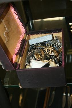 Sale 7917 - Lot 93 - Box of Vintage Costume Jewellery incl Watches