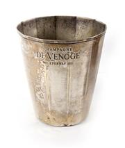 Sale 8224A - Lot 74 - A French Art Deco silver plate champagne / wine bucket, made for 'De Venoge Epernay', height 20 cm