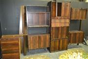 Sale 8235 - Lot 1002 - Extensive Brazilian Rosewood Wall Mount Unit in Three Sections