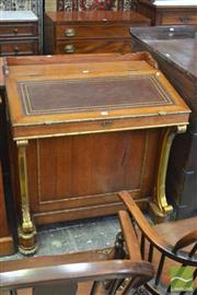 Sale 8335 - Lot 1068 - Good Victorian Style Oversized Davenport, with hinged tooled leather top, with stationary drawers to both sides & doors enclosing fo...