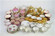 Sale 8396 - Lot 73 - Gilt Tea Wares with Others Incl German
