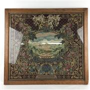 Sale 8545N - Lot 86 - Framed Tapestry depicting Windsor Castle (67cm x 63cm)