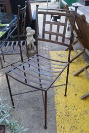 Sale 8550 - Lot 1347 - Set of Six Metal Outdoor Chairs