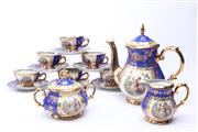 Sale 8694 - Lot 64 - Blue and Gilt Glaze Bavarian Tea Service