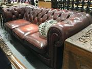 Sale 8795 - Lot 1081 - Chesterfield Leather Upholstered Three Seater Sofa