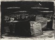 Sale 8867A - Lot 5088 - Dallas Bray (1961 - ) - Night Fishing, 1986 57 x 77cm