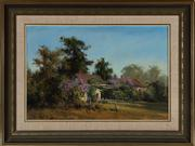 Sale 8818A - Lot 8 - BAlan FizzellDRI Cottage SceneDR oil on canvas on boardR 60 x 39cmR signed and dated LL 85