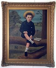 Sale 8859A - Lot 5006 - English School - Portrait of a Schoolboy, c1900 90 x 70cm