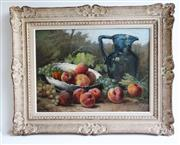 Sale 8888H - Lot 100 - Antique French still life oil on canvas on board attributed to Eugene De Flogny 1825-1879, in a carved French frame 41 x 56 cm