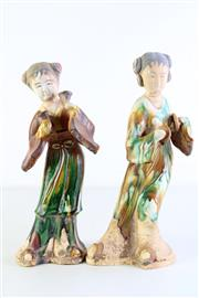 Sale 8997A - Lot 615 - Tang style sancai glazed musicians (H34cm)