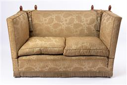 Sale 9135H - Lot 28 - A classic knoll settee (some wear to original upholstery) 1.4M Width, 85Cm Depth