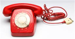 Sale 9168 - Lot 78 - Red dial telephone