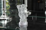 Sale 8024 - Lot 7 - Lalique Lovers Figural Group Signed to Base, height 13cm