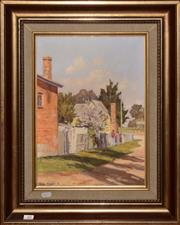 Sale 8107B - Lot 10 - Allan Fizzell, A glance at the past Hill End, oil on canvas on board,39 x 29cm, signed lower left