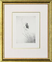 Sale 8257A - Lot 28 - Norman Lindsay (1878 - 1969) - Delight 26 x 18.5cm