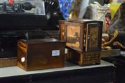 Sale 8311 - Lot 61 - Timber Cigarette Box & Another