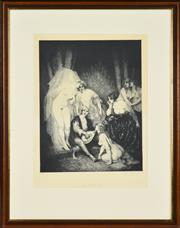 Sale 8330A - Lot 40 - Norman Lindsay (1879 - 1969) - The Ragged Poet 34.5 x 37.5cm