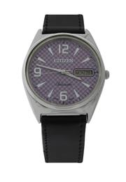 Sale 8406A - Lot 33 - Vintage mens Citizen automatic day / date wristwatch with lavender coloured dial in stainless steel case, 36 mm, in working order