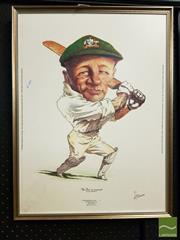 Sale 8471 - Lot 2054 - Donald Bradman Caricature