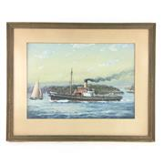 Sale 8545N - Lot 87 - Theo Grimanes S.S. Sterling, watercolour - 37cm x 26cm