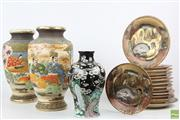 Sale 8563 - Lot 293 - Satsuma Style Vases And Plates
