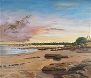 Sale 8867A - Lot 5072 - Pamela Griffith (1943- ) - Sultry Evening, Fannie Bay NT 90 x 105cm