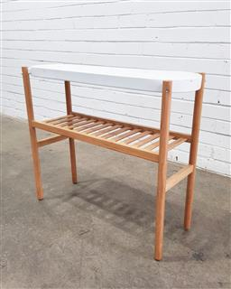 Sale 9112 - Lot 1088 - Modern timber side table (h70cm)