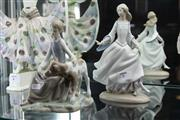 Sale 8081 - Lot 7 - Lladro Figure of a Girl & Calf & Another of a Princess (AF)