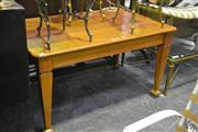 Sale 8105 - Lot 1049 - Timber Dining Table on Tapering Legs & Castors