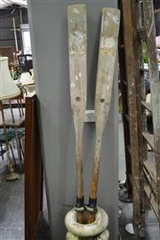 Sale 8147 - Lot 1064 - Pair Of Timber Oars