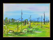 Sale 8286 - Lot 592 - Melita Denaro (1950 - ) - Untitled (Landscape) 52.5 x 72.5cm